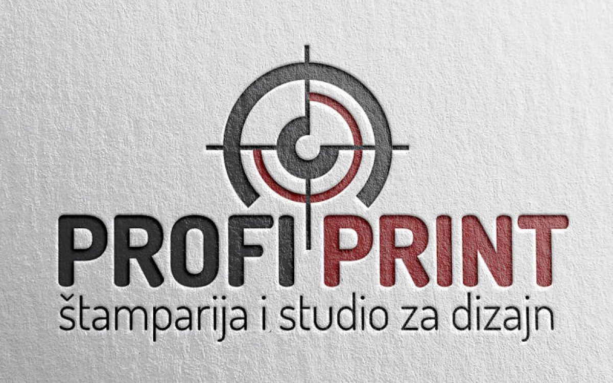 Profi Print redizajniran logo na spec papiru